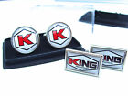 JAMES BOND 007 KING INDUSTRIES BADGE MENS CUFFLINKS GIFT $20.78 AUD on eBay