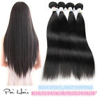 100g 8''~28''Straight 6A Virgin Brazilian Human Hair Weaves Weft Hair Extensions