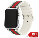 Apple Watch Nylon Skin Leather Black WHITE Red Green iWatch Band Strap 38mm 42mm