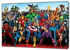MARVEL CHARACTERS PHOTO  PRINT ON FRAMED CANVAS
