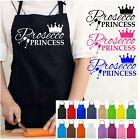 Prosecco Princess Crown KITCHEN APRON FUNNY NOVELTY CHEFS GIFT LADIES GIRLS