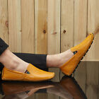 Mens Casual Leather Shoes Moccasin Peas Driving Loafers Slip On Oxfords Flats