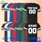 Customized Team Number JERSEYS MAN Personalize Name Number Text Custom Shirts RS