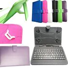 "PU Leather Keyboard Case Cover for Amazon Kindle Fire 7"" 8"" HD Tablet 2017 Model"