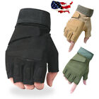 Finger Motorcycle Hard Gloves Fingerless Knuckle Outdoor Half Military Tactical