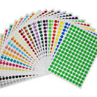6-10mm Round Spot Dots Stickers Sticky Adhesive Paper Labels 14 Colors Book DIY