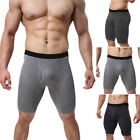 Men Brief Boxer Shorts Trunks Pouch Long Legged Underwear Underpants Pants Comfy