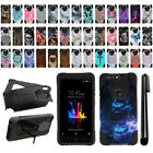 For ZTE Blade Z Max Z982 Sequoia Hybrid Dual Layer Kickstand Case Cover + Pen