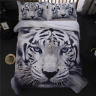 3D Animal White Tiger Duvet Cover Sets Comforter Cover Quilt Cover Bedding Set