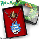 Rick and Morty MEESEEKS Metal Necklace Pendant Retro Ring in Box Cosplay Gifts