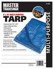 Kaps Tex KT-MT0810B Polyethylene Tarp, Blue, 8 x 10-Ft.