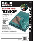 Kaps Tex KT-MT2030GB Hunter Green/Brown Polyethylene Tarp, 20 x 30-Ft. -