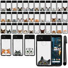 "For Google Pixel 2 XL 6"" 2017 Cat Design Black TPU SILICONE Case Cover + Pen"