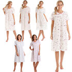 Womens Nightdress Ladies Floral Short Sleeve Nightie Lady Olga Nightshirt 10-36