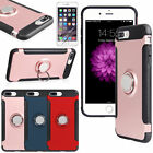 For iPhone X 8 7 Plus iPhone 8 Plus Ring Stand Protective Hybrid Slim Case Cover