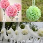 "6""x8"" Artificial Silk Rose Kissing Flower Ball Pomander Bouquet Wedding Decor US"