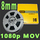 WE TRANSFER YOUR 8MM HOME MOVIE REEL TO REEL FILMS TO 1920 X 1080 VIDEO MOV