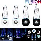 LED DANCING WATER SHOW MUSIC FOUNTAIN LIGHT SPEAKERS FOR TABLETS MOBILES LAPTOP
