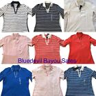 Tommy Hilfiger Womens Polo Shirt Open V-neck Tory Knit Half Sleeve Top NWTs