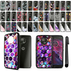 For Motorola Moto X4/ X 4th Gen 2017 Black Clear Case TPU Bumper Cover + Pen