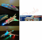 BUMP AND GO ELECTRIC FLASHING MOVING SOUND MUSICAL TRAIN PLANES SHUTTLE TOYS
