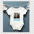 ADD PHOTO AND TEXT Baby Grow Bodysuit Personalised Baby gift