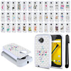 For Motorola Moto E LTE 2nd Gen 2015 Crystal Sparkle HYBRID Case Cover + Pen