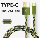 0.5M-3M Strong Braided USB-C USB 3.1 Type C Male Data Charge Charging Cable Lot