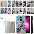 "For LG X Power 2 LV7 5.5"" M320 SP320 Sparkling Silver Silicone Case Cover + Pen"
