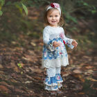 Haute Baby Boutique Infant & Toddler Girls Gypsy Lace Blue Pant Set 0/3m-4t