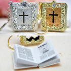 12 Mini Baptism Favors Bibles Recuerdos Bautizo Biblias Keychains Communion