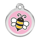 Red Dingo Dog ID Pet Tag Charm FREE Personalized Engraving PINK BUMBLE BEE