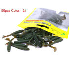 10/50x Curly Tail Grub Worm Mixed Soft Plastic Lure Fishing Tackle Bait Jig Head
