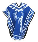 Authentic Poncho Horse Design Brushed Reversible Outdoor Gaban Cobija Mexico Top