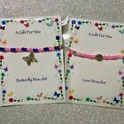 New Butterfly Charm Bracelet Beaded Stretch ~ Mothers Day Great Gift idea ~ Love