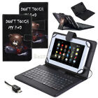 "US For Samsung Galaxy Tab 3/4 7"" 8"" 10.1"" Tablets PU Leather Cover Keyboard YA"