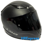 LS2 RAPID MATT BLACK FULL FACE MOTORCYCLE MOTORBIKE HELMET BLACK TINTED VISOR