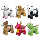 Rechargeable 6V/7A Plush Animal Ride On Toy for Kids With Safe Belt