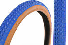 "SET 20 x 1.75 AND 20 x 2.125 OLD SCHOOL BMX ""SNAKE BELLY"" TYRES BLUE AMBERWALL"