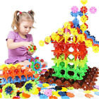 100-720pc Snowflake Building Blocks Educational Toy Plastic Kids Puzzle Toys New