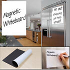 Magnetic Whiteboard Plain Dry Wipe Flexible Memo Notice Fridge Planner Magnet UK
