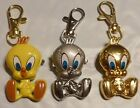 CHOICE OF COLOR TWEETY BIRD 2-IN-1 NECKLACE/KEYRING PENDANT WATCH USA SELLER