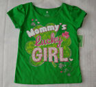 "Girls St. Patricks Day Pattys "" Mommy's Lucky Girl "" Shamrock T-Shirt, 2T 3T NWT"