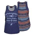 WRANGLER Womens ADELAIDE Singlet top in Navy NEW STOCK