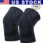 2X Knee Sleeve Compression Brace Support For Sport Joint Pain Arthritis Relief $9.5 USD on eBay