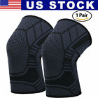 2X Knee Sleeve Compression Brace Support For Sport Joint Pain Arthritis Relief $8.99 USD on eBay
