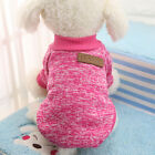 Small Large Dog Pet Puppy Cat Jumper Knit Sweater Clothes Knitwear Coat Warm LS