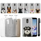 For LG Stylo 3 Plus Stylo 3 Stylus 3 Dog Sparkling Silver TPU Case Cover + Pen