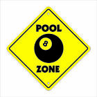 Pool Crossing Sign Zone Xing hall table 8 ball billiards cue stick hustler