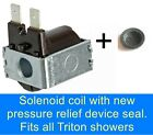 ELECTRIC SHOWER SOLENOID COIL FITS TRITON CARA  / ENRICH  SHOWERS & MIRA SPORT